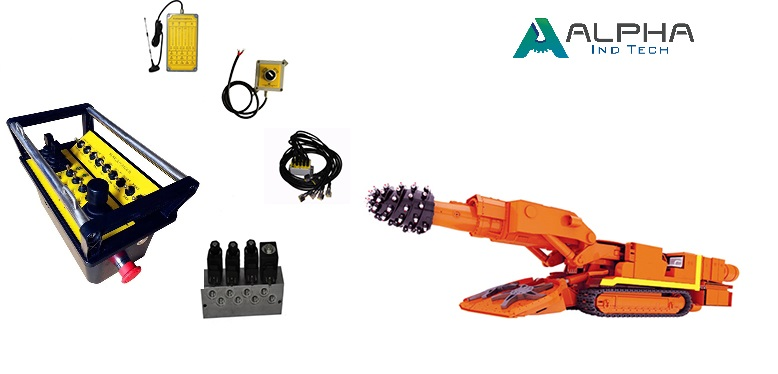 Mining automation,Remote control roadheader, Roadheader remote control system, Alpha Ind Tech.jpg
